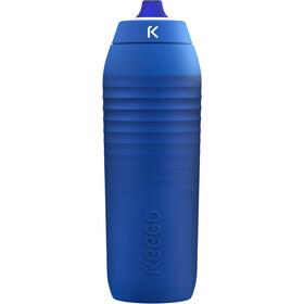 KEEGO Quetschbare Trinkflasche aus Titan 750ml blau